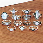 Opal Rings Set Knuckle Rings 13 PCS/Set