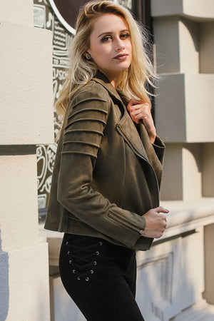 Lily Suede Leather Jacket