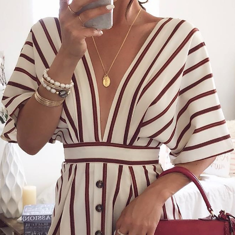 Vacation Loose Stripes Dress