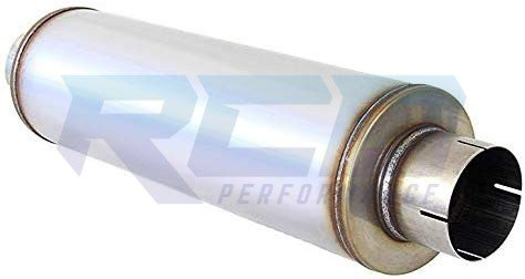"RCD 409 Stainless Steel 7"" Round 30"" Muffler 4"" ID"
