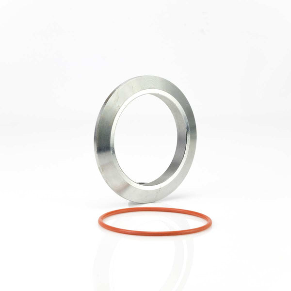 "Mild Steel S400 3"" Weld On CAC V Band Flange and O-Ring Kit."