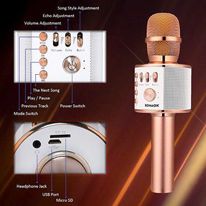 Wireless Bluetooth Karaoke Microphone --- iPhone/Android