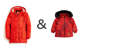 mommy and me red jackets