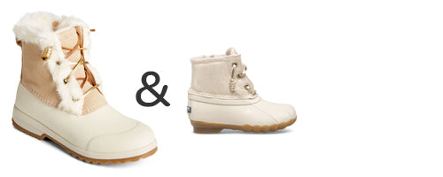 mommy and me white snow boots