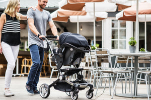 coast stroller. coast travel system. use a car seat on your stroller. 4- wheeled stroller. Image: Larktale family uses with the coast stroller and a car seat as a travel system