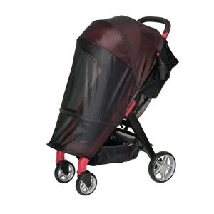 stroller bug net. keep bugs away from stroller. insect net attached to the chit chat stroller