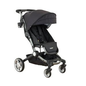 4 wheeled stroller. Use from birth stroller. Coast stroller in byron black