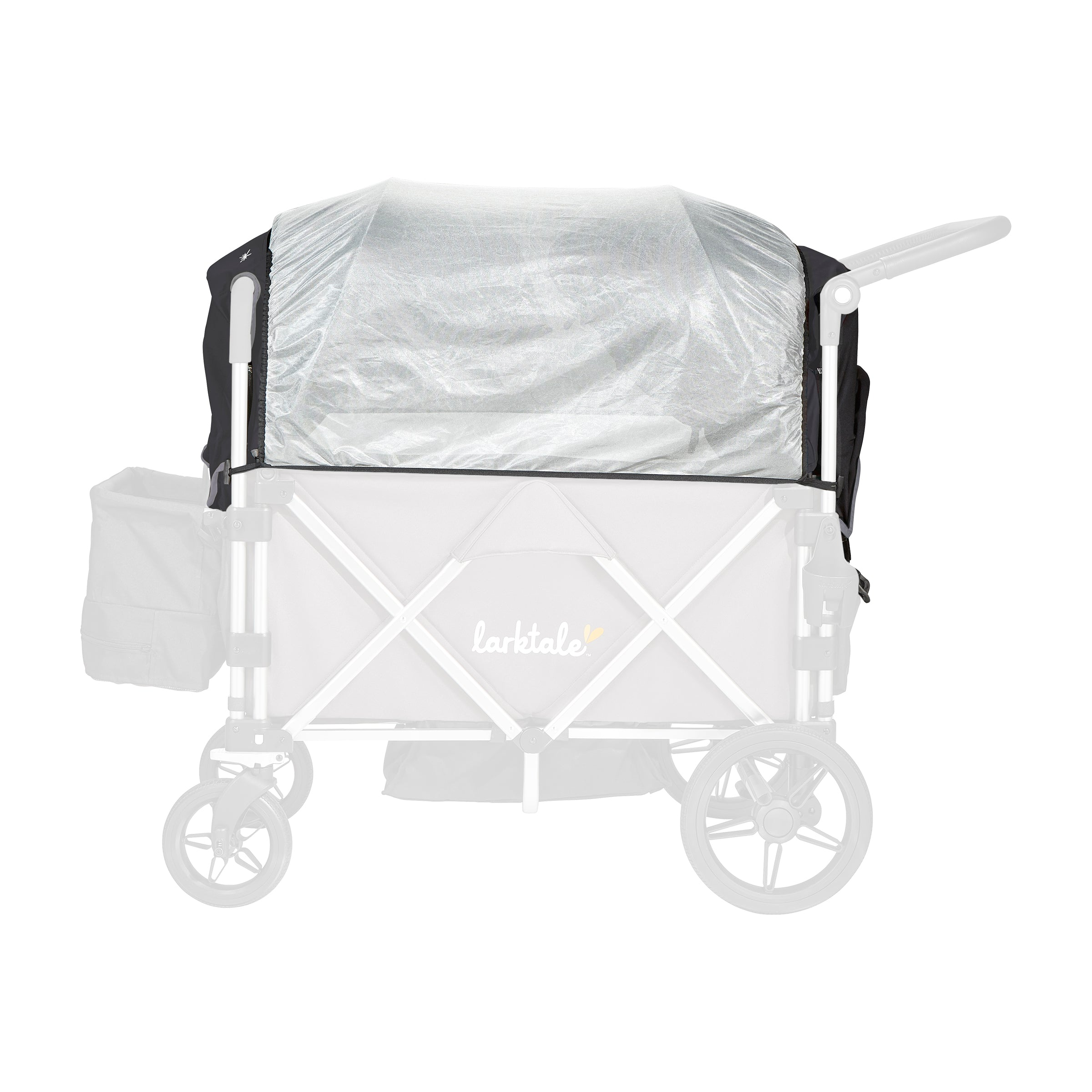 Caravan stroller/wagon sun canopy set - built-in bug cover