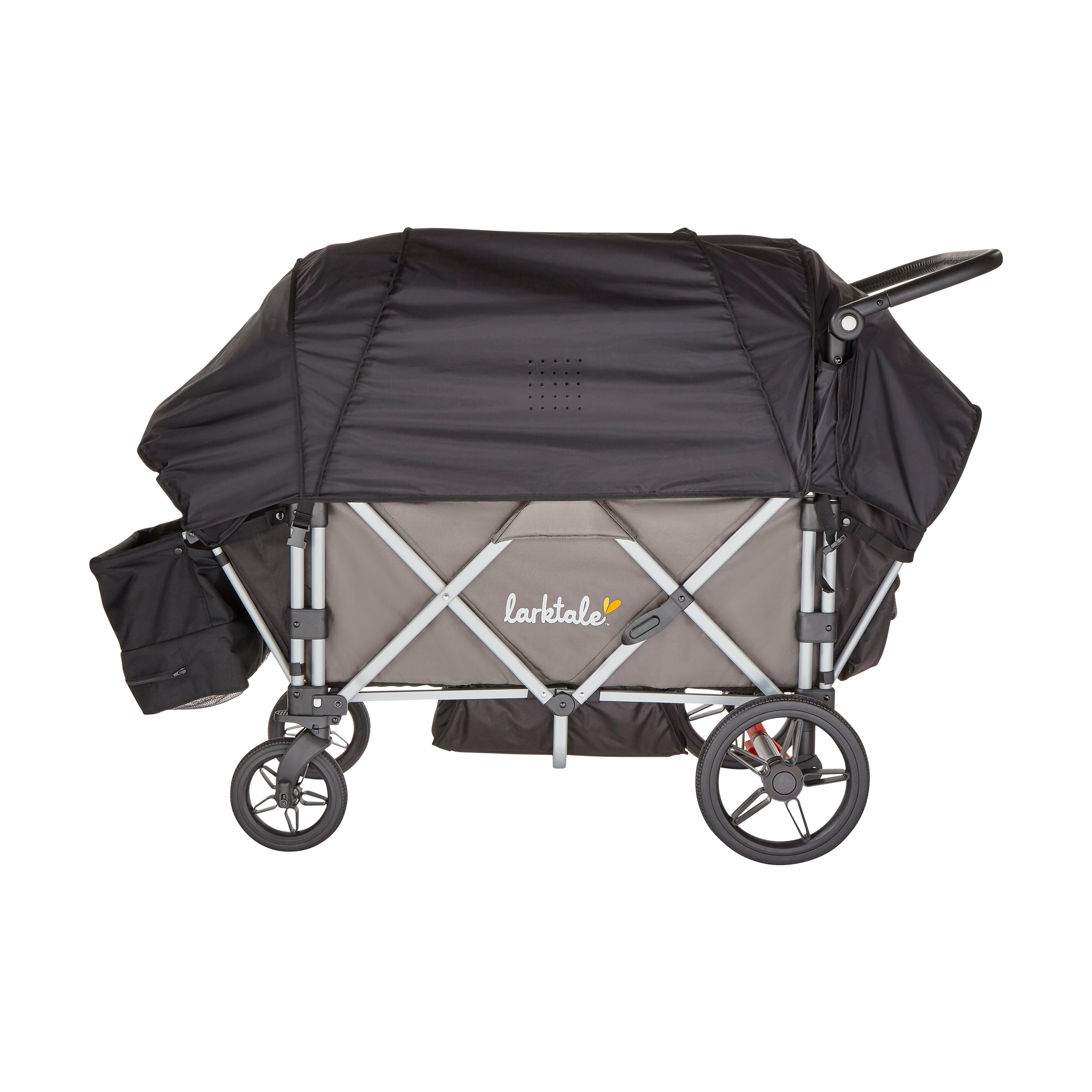 Caravan stroller/wagon sun canopy set - built-in rain cover