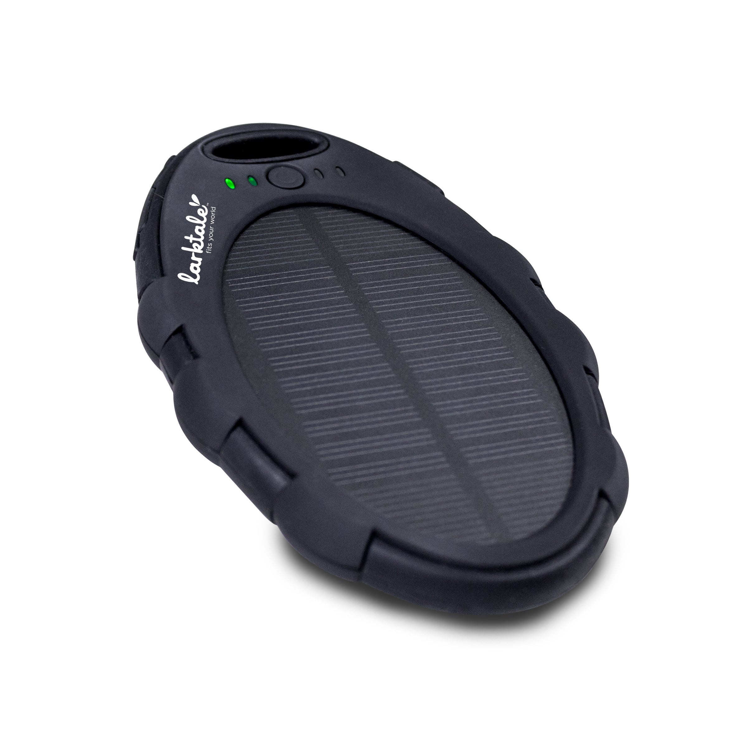 Universal fit! Use the sun's energy to charge your devices. Larktale Solar Charger. Great for travel! An outdoor adventure must-have! Use the solar panel on strollers, wheelchairs, boats, golf carts, purses, diaper bags, backpacks and more!