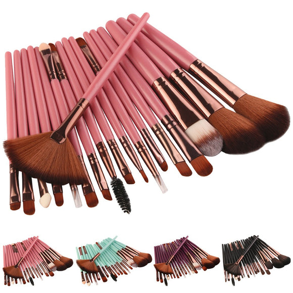 18 pcs Makeup Brush Set - The Beauty Brush