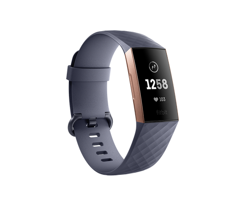 Fitbit Charge 3 - Blue Gray / Rose Gold Aluminum