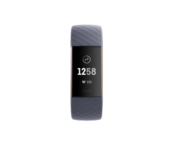 Fitbit Charge 3 - Blue Gray / Rose Gold Aluminum - fitbit.com.pk - Fitbit Pakistan