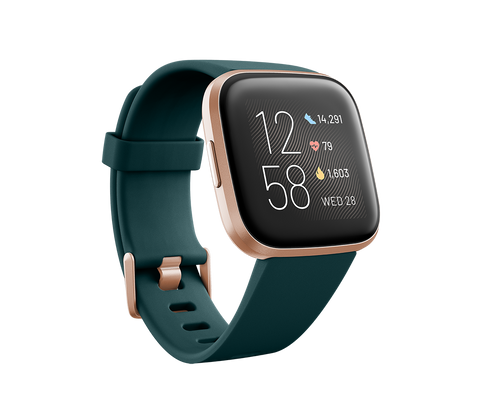 Fitbit Versa 2 - Emerald / Copper Rose Aluminum