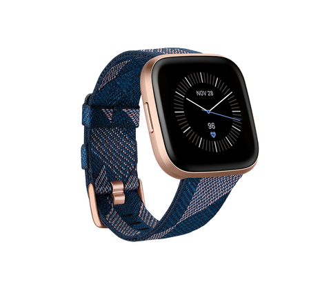 Fitbit Versa 2 Special Edition - Navy & Pink Woven / Copper Rose Aluminum