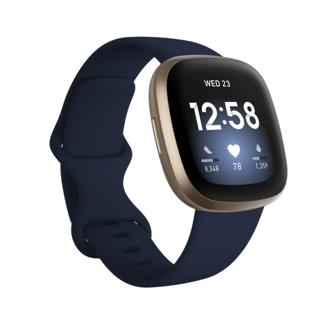 Fitbit Versa 3 - Midnight / Soft Gold Aluminum