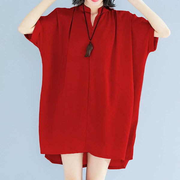 Cape Town Oversized Blouse in Red