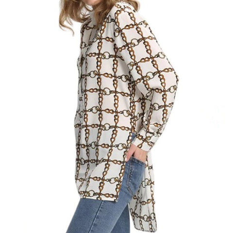 Orleans Printed Blouse Dress