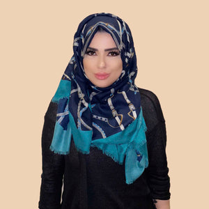 Rashaya Scarf in Navy