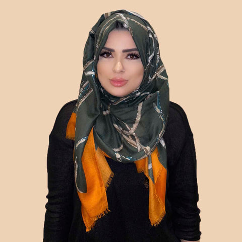 Rashaya Scarf in Orange