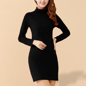 Rania Long Polo in Black