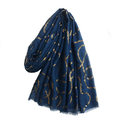 Tanzanite Scarf in Navy