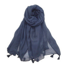 Load image into Gallery viewer, Tanzanite Scarf in Beige