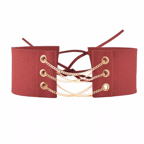 Denizli Choker in Red