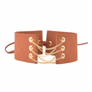 Denizli Choker in Orange