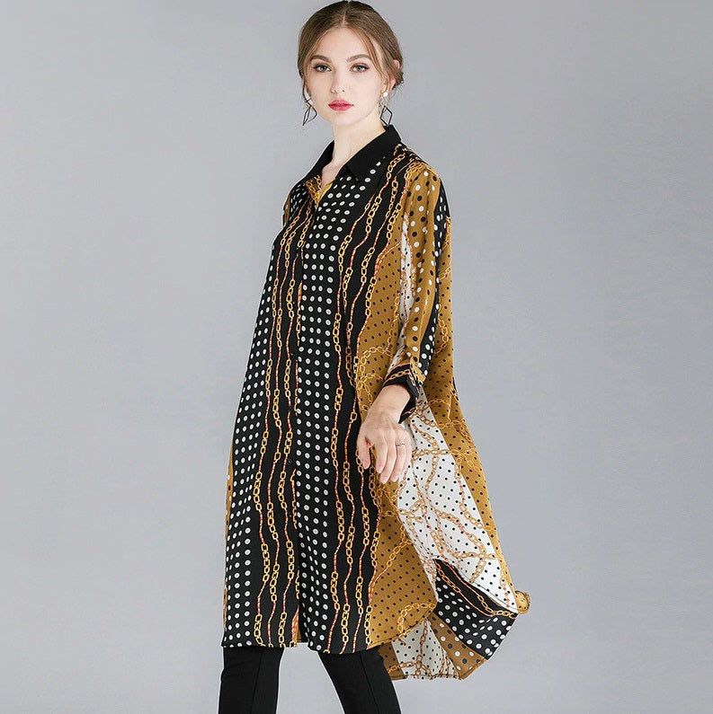 Lille Print Oversized Blouse