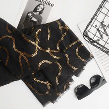 Load image into Gallery viewer, Tanzanite Scarf in Black