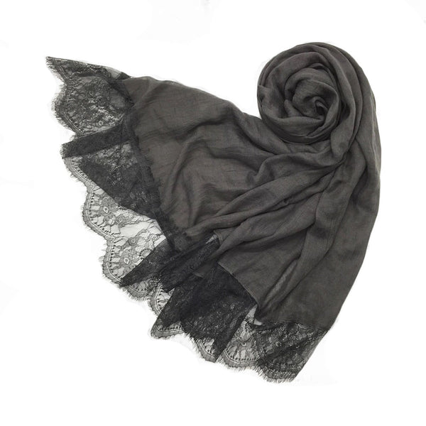 London Scarf in Charcoal