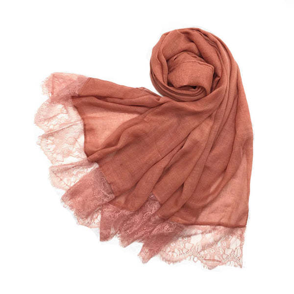 London Scarf in Coral