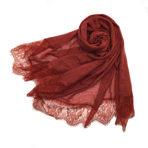 London Scarf in Scarlet