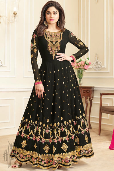 Black Georgette Party Wear Suit