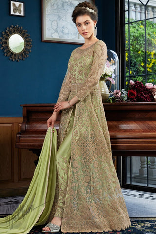 Fresh Liril Net Lehenga Style Suit with Pants
