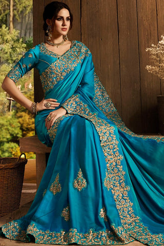 Royal Blue Pure Silk Saree
