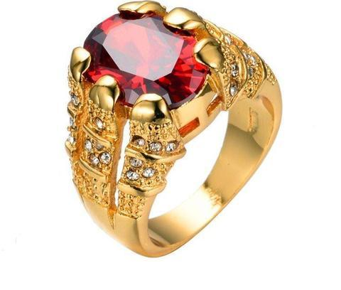 RUBY KING 10K GOLD RING