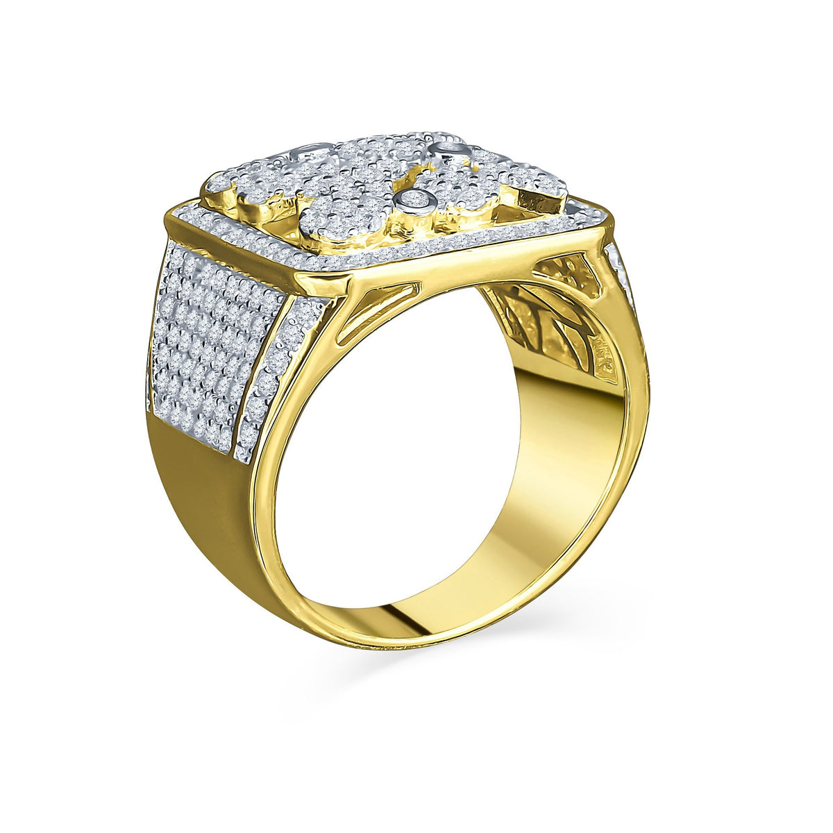 14K Yellow Multi-Drop Gold  Ring