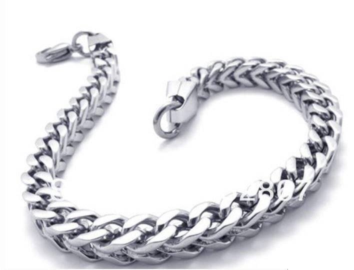 5mm White Gold Stainless Steel Franco Chain