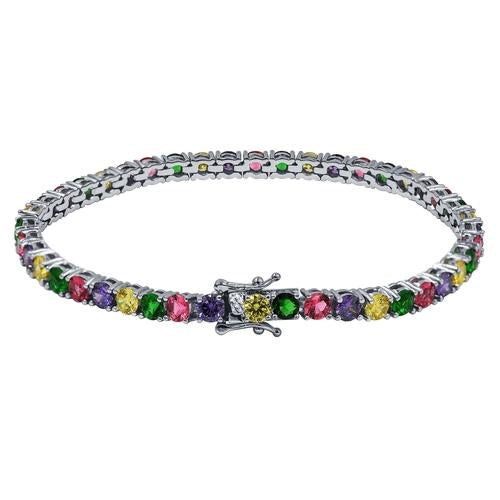 4mm Multicolor Tennis Bracelet