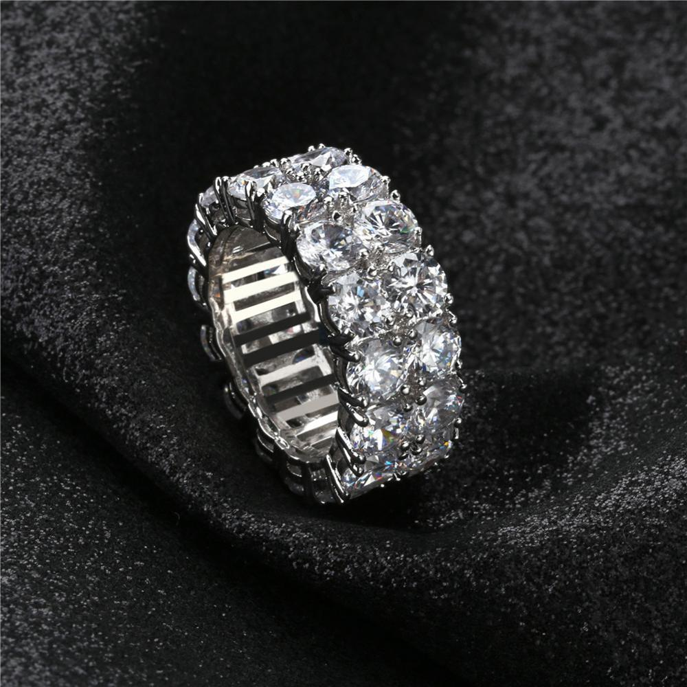 14K Two Row Ring