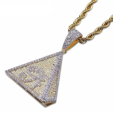 Micro Diamond Pyramid Of Egypt Necklace