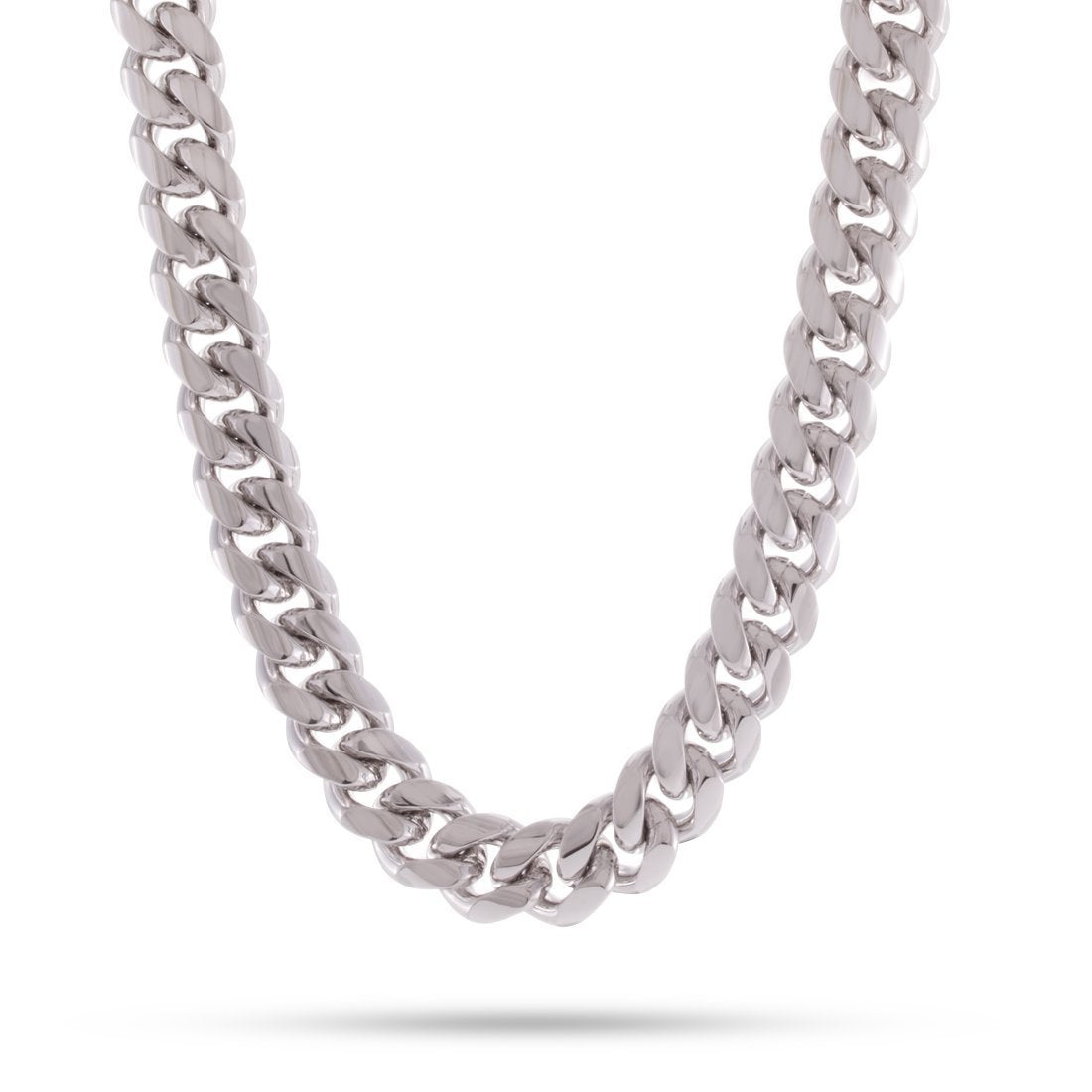 Stainless Steel Cuban Chain - Iced Clasp