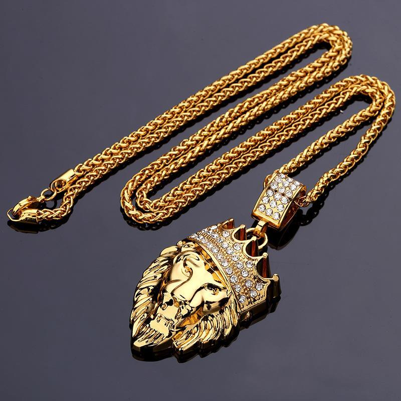 MICRO DIAMOND GOLD LION NECKLACE *NEW*