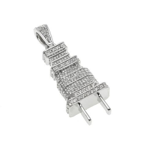 MICRO DIAMOND PLUG NECKLACE