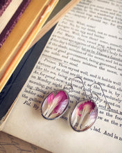 Load image into Gallery viewer, Pink Carnation Hanging Earrings