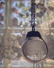 Load image into Gallery viewer, Glass Globe Necklace with White Feather