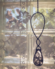 Load image into Gallery viewer, Black Rutile Quartz & Wire Necklace
