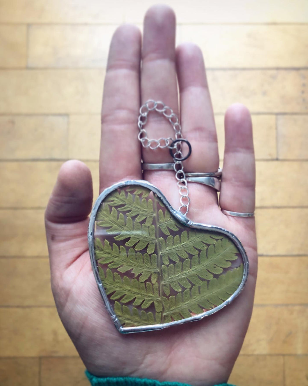 Heart Fern Ornament